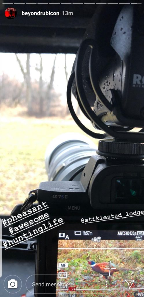 Instagram story of view from the blind