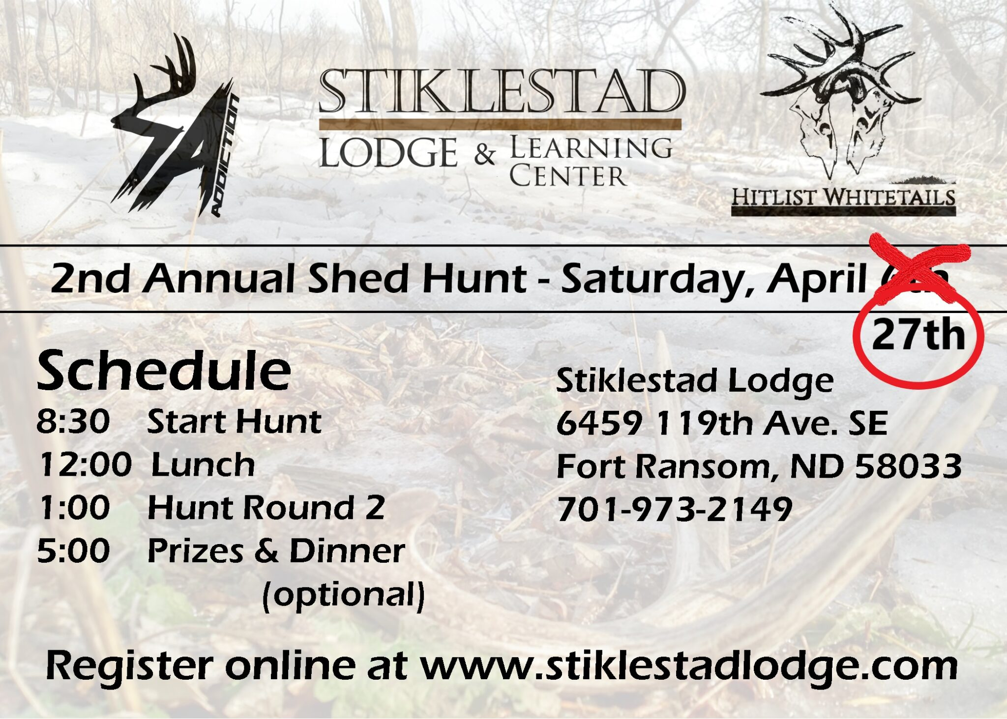 Shed Hunt Updated Information